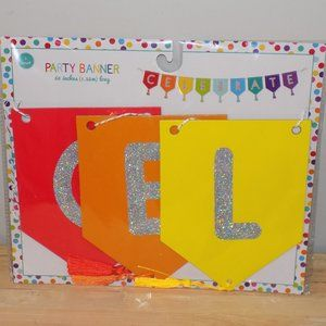 """Party Banner """"CELEBRATE"""" 60"""" Length with Tassels"""